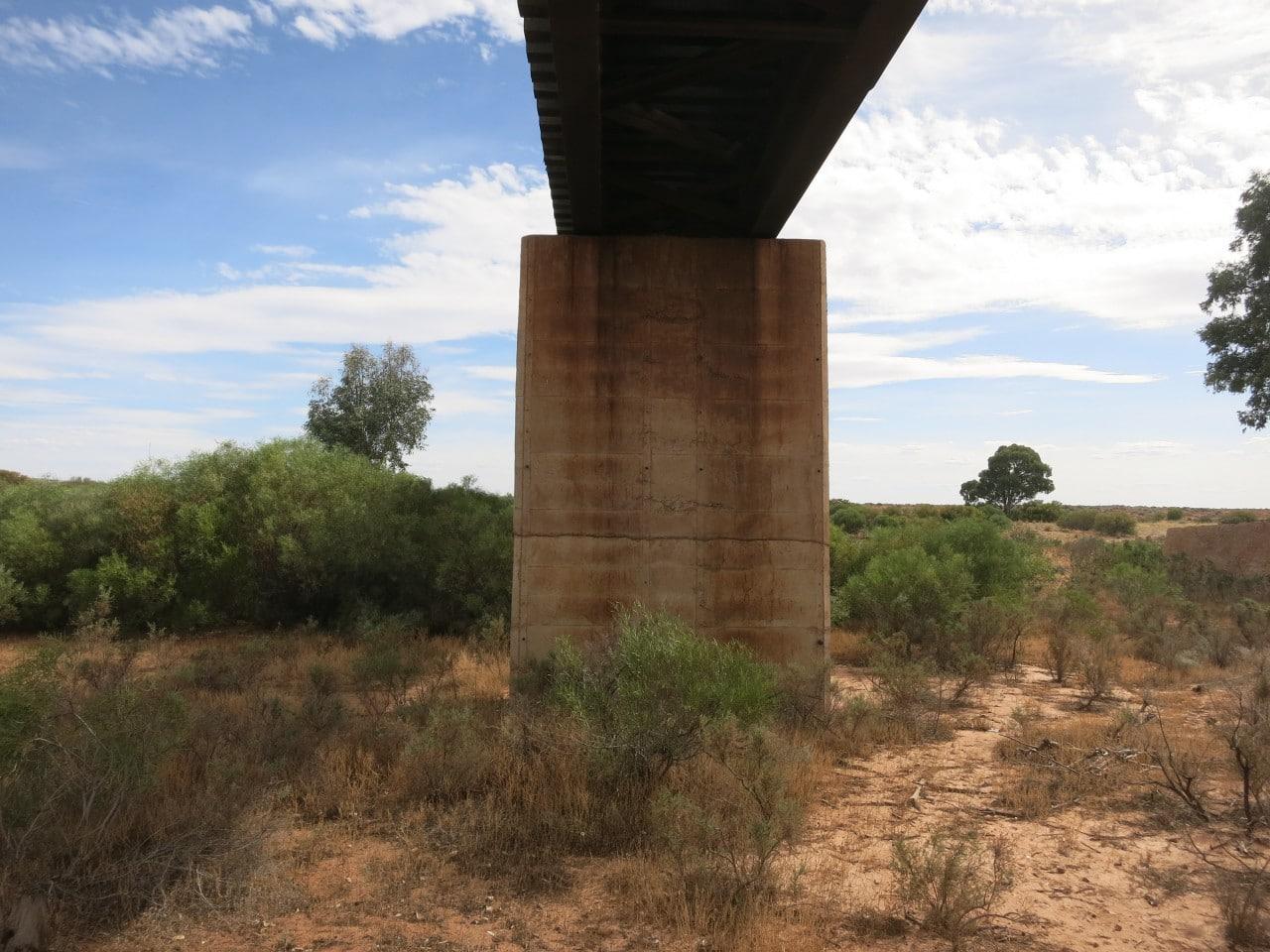 Railway Bridge At Hookina Creek On The Leigh Creek Line