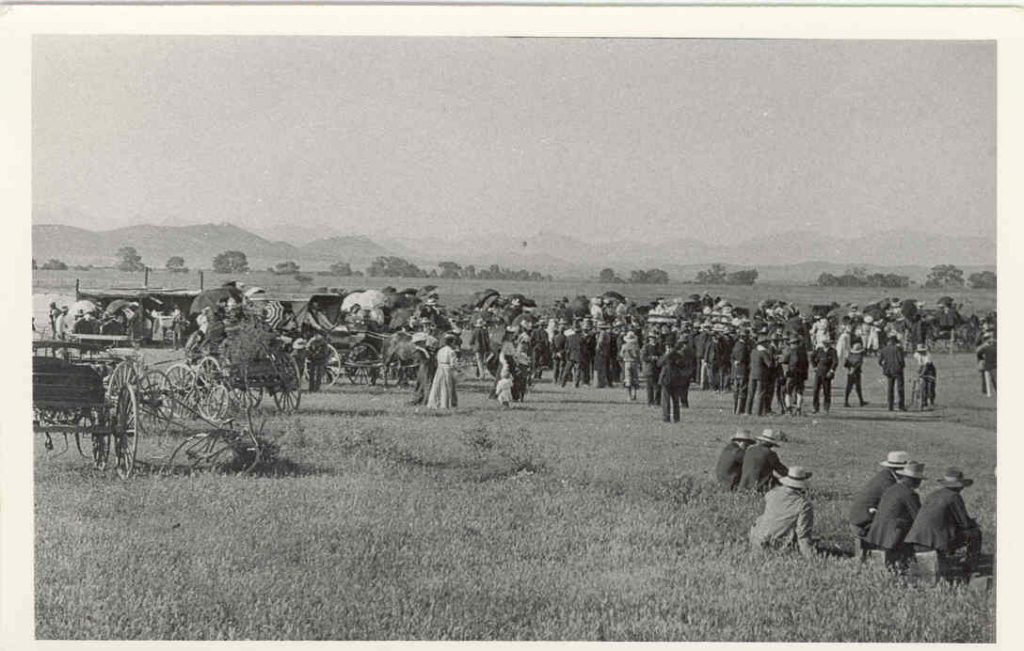 The Hawker Agriculture Show was held about 1 km north of the town, the Wonoka Creek is see in the background.