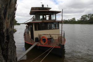 I was lucky and travelled on the Murray and the Darling rivers.
